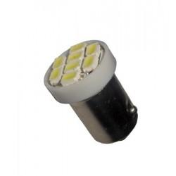 Ampoule Led H6W BAX9S à 8 leds 24 volts non polarisée