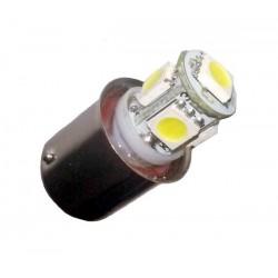 Ampoule Led R5W BA15S à 5 leds 24 volts sans polarité