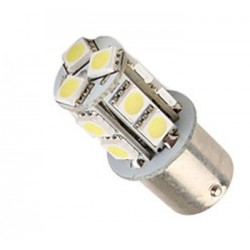 Ampoule led R10W BA15S à 13 leds 5050 9-30 volts
