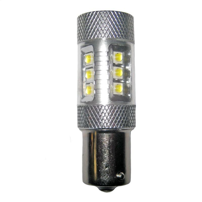 ampoule led p21w ba15s 12 leds 4 cree 9 30 volts led pl. Black Bedroom Furniture Sets. Home Design Ideas