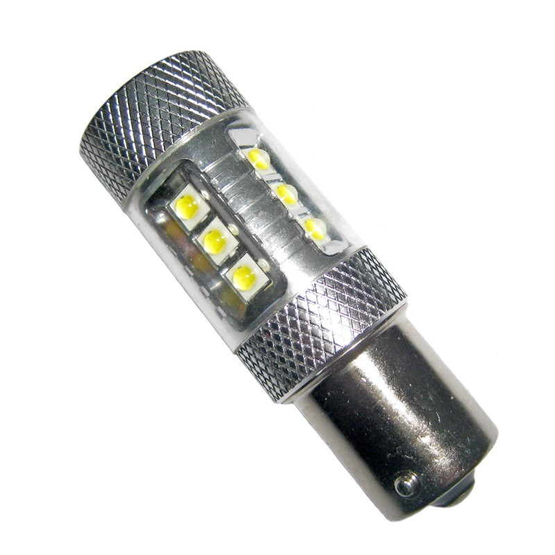 Ampoule led p21w ba15s 12 leds 4 cree 9 30 volts led pl - Ampoule led 12 volts ...