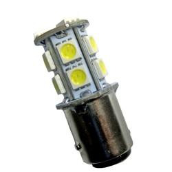 Ampoule led BAY15S à 13 leds 5050 9-30 volts
