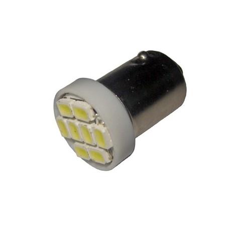 Ampoule Led T4W BA9S à 8 leds 24 volts