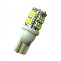 Ampoule Wedge W5W W16W 30 leds blanches 5630 9 à 30 volts