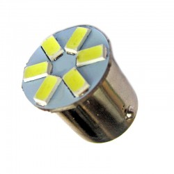 Ampoule Led R5W BA15S à 6 leds  24 volts