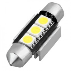 Navette C5W 36mm à 3 leds 24 volts sans polarité