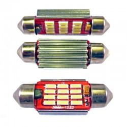 Ampoule Navette (festoon) C5W, C10W, 36mm, 39mm, 41mm à 12 leds 4014 9-30v