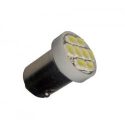 Ampoule Led T4W BA9S à 8 leds 24 volts non polarisée
