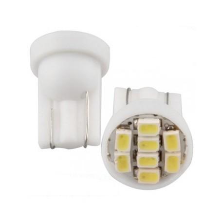 Ampoule Led T10 W5W à 8 leds 24 volts