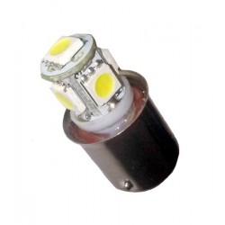 Ampoule Led R5W BA15S à 5 leds 24 volts