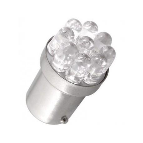 Ampoule Led R5W R10W BA15S à 9 leds rondes 24 volts