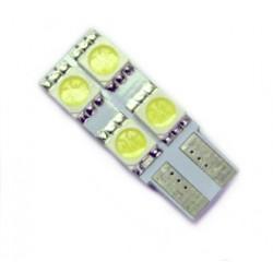 Ampoule Led T10 W5W à 4 leds blanche 24 volts