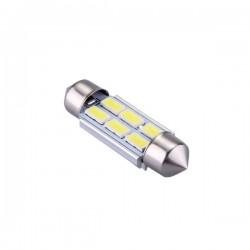Ampoule navette C10W 36mm à 6 leds 5630 24 volts