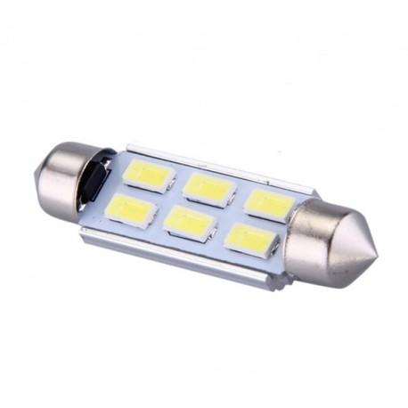 Ampoule navette C10W 41mm à 6 leds 5630 24 volts