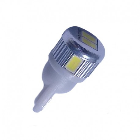 Ampoule Wedge T10 W5W W16W 6 leds blanches 5630 9 à 30 volts