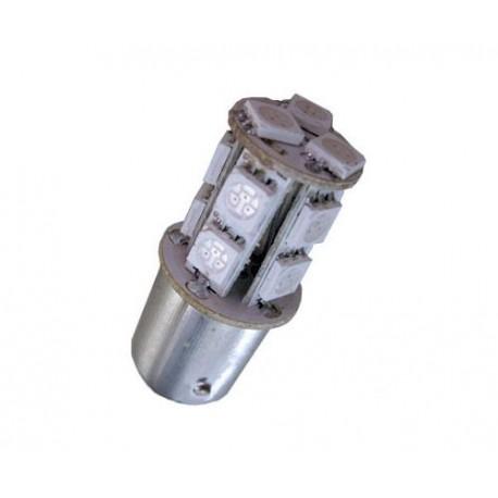 Ampoule à led rouge R10W BA15S 13 leds 5050 9-30 volts