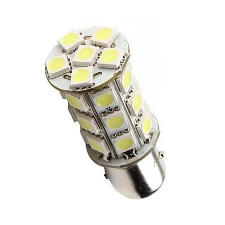 Ampoule led P21W BA15S à 27 leds blanches 9-30v
