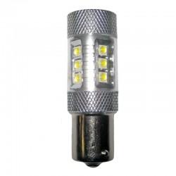 Ampoule Led p21w ba15s 12 leds + 4 Cree  9-30 volts