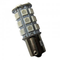 Ampoule led PY21W BAU15S 27 leds oranges 9-30 volts