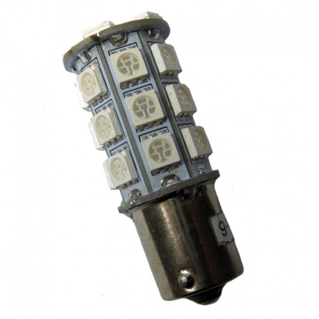 Ampoule led PY21W BAU15S 27 leds oranges 9-30 volts