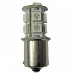 Ampoule led PY21W BAU15S 13 leds oranges 9-30 volts