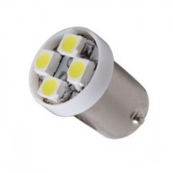 Ampoule Led T4W BA9S à 4 leds 24 volts