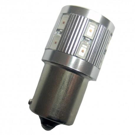 Ampoule led PY21W BAU15S 12 + 1 leds oranges 9-30 volts