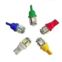 Ampoule Led T10 W5W à 5 leds 24 volts