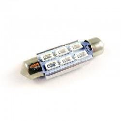Ampoule navette C5W C10W 39mm à 6 leds 5630  bleues