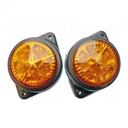 Feux rond orange à 5 leds 24 volts