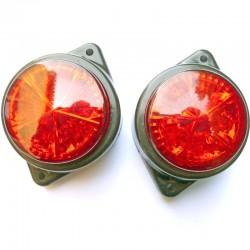 Paire de Feux rond rouge à 5 leds 24 volts