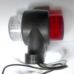 Feu latéral double blanc et rouge 12-24 volts