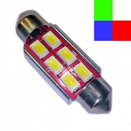 Navette (festoon) C10W 36mm à 6 leds 5630 24 volts