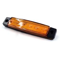Feux de gabarit ou de position rectangulaire orange à 6 leds 24 volts