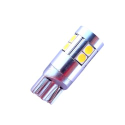 Ampoule Wedge T10 W5W W16W 9 leds blanches 3030