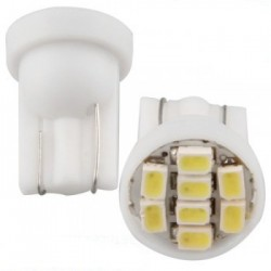 Ampoule Led T10 W5W à 8 leds 24 volts